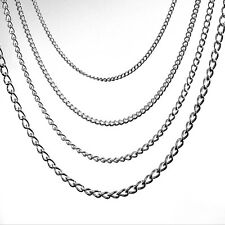 10 cm Long Solid Sterling 925 Silver Strong Loose Curb Chain