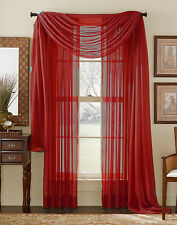 1 Piece Sheer Voile Window Panel Curtain Treatment Drapes in 30 Different Colors