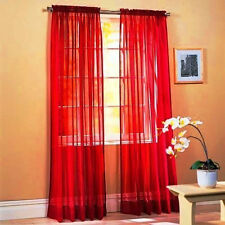 1 Piece Sheer Voile Window Panel Curtains in 30 Different Colors! Drapes Valance