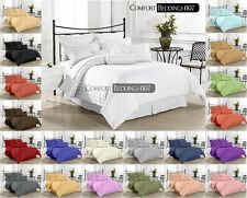 Hotel New Brand King 3pc Duvet Set 1000TC 100%Egyptian Cotton IN All Color