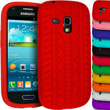 Soft Silicone Case for Samsung Galaxy S3 Mini i8190 Tyre Gel Rubber Grip Cover