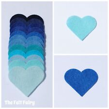 Felt Wool Mix 12 inch / 30cm Squares ~ Blue Shades Choose from 11 Shades ~ BLUES