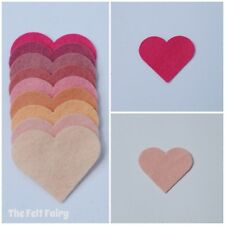 Felt Wool Mix 12 inch / 30cm Squares ~ Pink Shades - Choose from 10 Colours