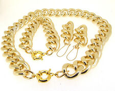 "17"" 18"" 20""-30""CUT LIGHT GOLD ALUMINIUM CURB LINK CHAIN NECKLACE BRACELET CHOKER"