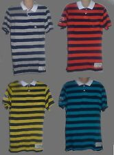 Mens AEROPOSTALE California Surf Chasers Striped Jersey Polo Shirt NWT #7920