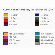 iDye**Jacquard Poly iDye**16 Colour Choices**Washing Machine Dye