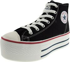 Maxstar C50 7-Holes Canvas Zipper Platform Sneakers Shoes 6 Colors