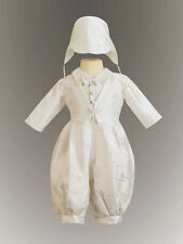 Lito Boys Silk Christening Outfit Baptism Suit Justin Romper 3 6 12 18 24 JUSTIN