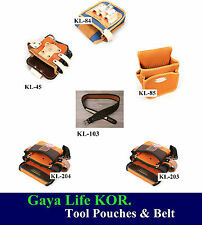 New HQ Leather & Nylon Belt Clip Pocket Tool Pouches & Belt Shipping Track No.