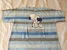 Peanuts comic Snoopy hashtag # Look At Me Now striped T shirt vintage