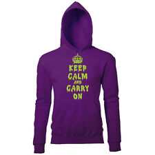 DRIPPING KEEP CALM AND CARRY ON HALLOWEEN WOMENS PRINTED FANCY DRESS HOODIE
