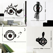 Crystal DIY Wall Clocks Vinyl Stickers Moderm Art Novelty Gifts Home Time Decor