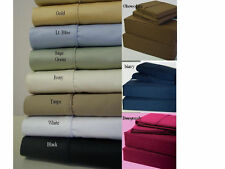 WATERBED Sheets Solid 450 Thread Count with Pole Attachments All Sizes