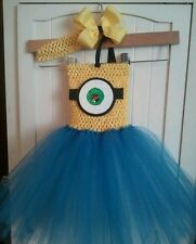 DESPICABLE ME MINIONS INSPIRED BIRTHDAY  TUTU dress costume party halloween