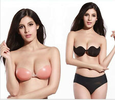 3 designs-Sexy Silicone Adhesive Stick On Gel Push Up  Invisible Bras Backless