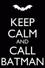 Keep Calm and Call Batman Vinyl Wall Art Sticker in any of 24 Colours