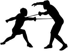 Fencing Fencers Sports Silhouette Silhouette Vinyl Wall Art Sticker