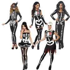 Sexy Skeletons Fever Tutu Glow In Dark Halloween Womens Fancy Dress Size 6-22