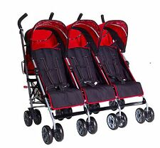 Triple pushchair Tripple Buggy for three babies/toddlers from birth -3years