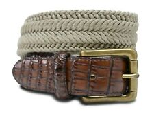 7917 Big & Tall Marco LTD Men's Cotton Braided Leather Dress Belt (Non-Stretchy)