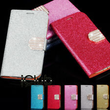 LUXURY DIAMOND BLING GLITTER WALLET FLIP CASE COVER FOR SAMSUNG GALAXY S3 I9300