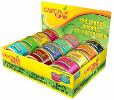 4 x CALIFORNIA SCENTS ORGANIC SPILLPROOF AIR FRESHENER GENUINE CAR HOME OFFICE