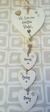 Shabby personalised Gift Chic Heart Plaque Auntie Aunty Aunt Any Name You Want