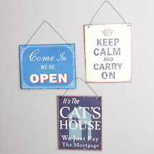 METAL SIGNS VINTAGE RETRO HANGING WALL PLAQUES