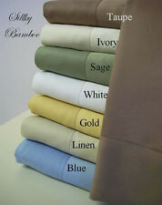 Silky Super Soft 100% Bamboo 4pc. Sheet set QUEEN Size: Bedspread - Home Covers