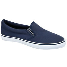 NEW DEK TWIN GUSSET  MENS CANVAS SUMMER FASHION TRAINERS CASUAL SHOES UK SIZES