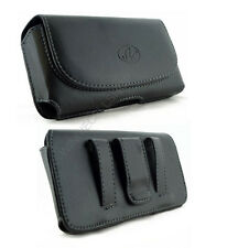 Leather Sideways Belt Clip Case Pouch Magnetic Closure for Samsung Cell Phones