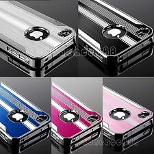 For iPhone 4 4S 4G Aluminum Metal Chrome Hard Case Cover+ Free Screen Protector