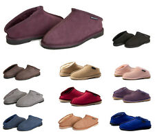 Mens Premium Australian Sheepskin Ugg Open Heel Slippers / Scuffs - 13 Colors