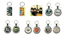 < THE BEATLES - OFFICIAL METAL KEYRING - collectable keyrings / abbey road