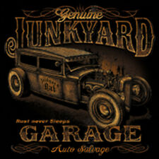 Dickies Black Work Shirt Junkyard Garage Rust Never Sleeps Hot Rod Mechanics
