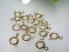 Top quality USA made 14k gold filled 5.5 mm spring ring clasps, 15 or 30 pcs