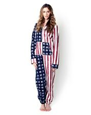 AMERICAN STARS FLAG HOODED ONESIE JUMPSUIT PYJAMAS 8 1012 14 BRAND NEW VINTAGE