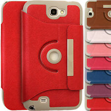 360° Rotating Leather Stand Cover Magnet Case for Samsung Galaxy Note 2 N7100 II