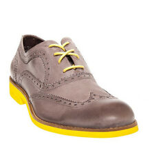Wolverine 1883 Horace Wingtip Brogue-Light Grey/Yellow  *NEW* + Free US Shipping