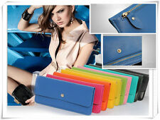 Real Leather Slim Zip Compact Style Purse Ladies Card Holder Wallet Gift