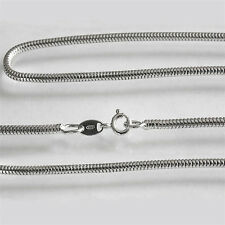 2.5mm Solid Sterling 925 Silver Heavy Round Snake Chain Necklace Anklet Bracelet