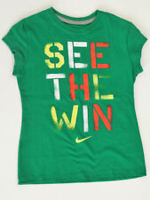 NWT Nike Girl's SEE THE WIN Short Sleeves Cotton Tee Top T-Shirt Size XS