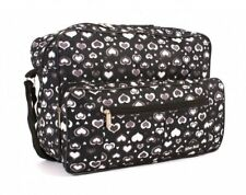 New Womens Overnight Weekend Bag Ladies Travel Gym Hand Luggage Holdall Hearts