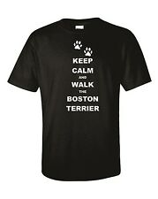 Keep Calm & Walk The Boston Terrier Dog Unisex T-Shirt Christmas Gift