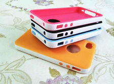For iPhone 4 4G 4S 2-Piece Hybrid Rubber Rugged Combo Matte Hard Soft Case Cover