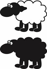 Bah Bah Black and White Sheep a Vinyl Wall Art Sticker in 4 Sizes & 24 Colours