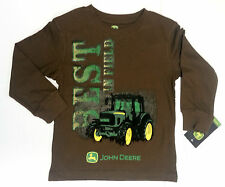 NEW John Deere Boys Brown Long Sleeve Best in Field T-Shirt Size 4