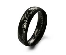 mens Titanium Black LORD OF THE RINGS BAND FREE COOL SHIP Christmas gift
