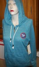 NEW ROXY turquoise zipper front zip HOODIE JACKET women small medium large or XL