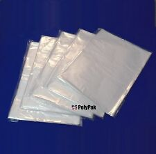 """12x12"""" Clear Poly Bags LDPE 1Mil Lay-Flat Plastic Open Top Baggies Sleeves"""